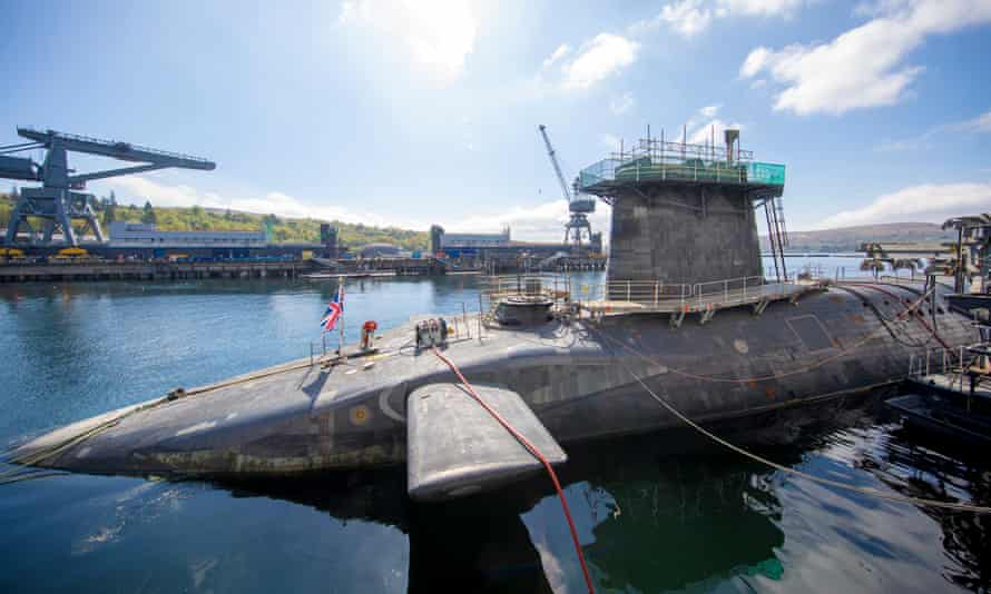 HMS Vigilant at HM Naval Base Clyde, Faslane, which carries the UK's Trident nuclear deterrent.