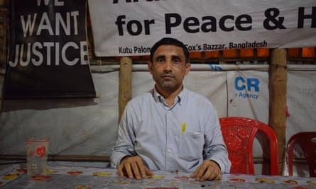 Mohib Ullah sitting in his office in Cox's Bazar