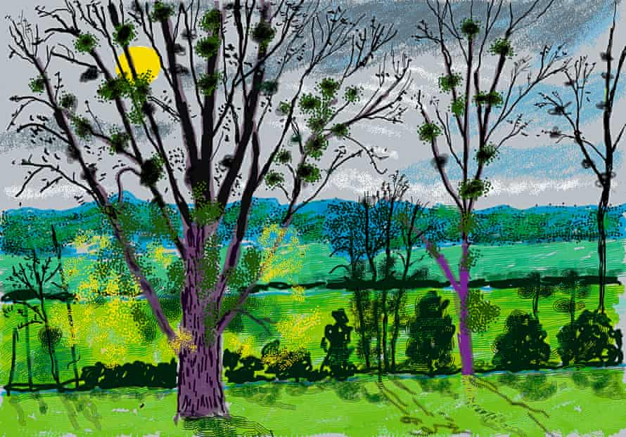 No. 584, 31 October 2020, iPad painting by David Hockney.