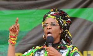 Grace Mugabe at a Zanu-PF rally