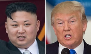Kimg Jong-un and Donald Trump
