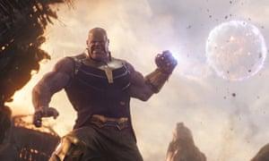 Josh Brolin as Thanos in Avengers: Infinity War.