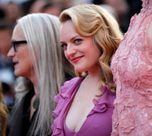 """70th Cannes Film Festival - Screening of the film The Beguiled in competition - Red Carpet Arrivals70th Cannes Film Festival - Screening of the film """"The Beguiled"""" in competition - Red Carpet Arrivals - Cannes, France. 24/05/2017. Director Jane Campion and actress Elisabeth Moss pose."""
