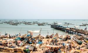 Fishing boats on the shore of Jamestown, Accra, Ghana