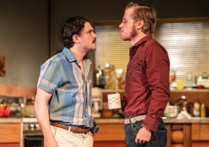 'Fuelled by fury': Kit Harington, left, and Johnny Flynn in True West.