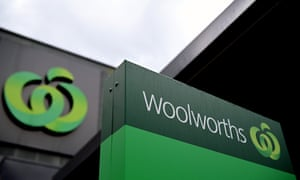 Signage at a Woolworths supermarket in Sydney