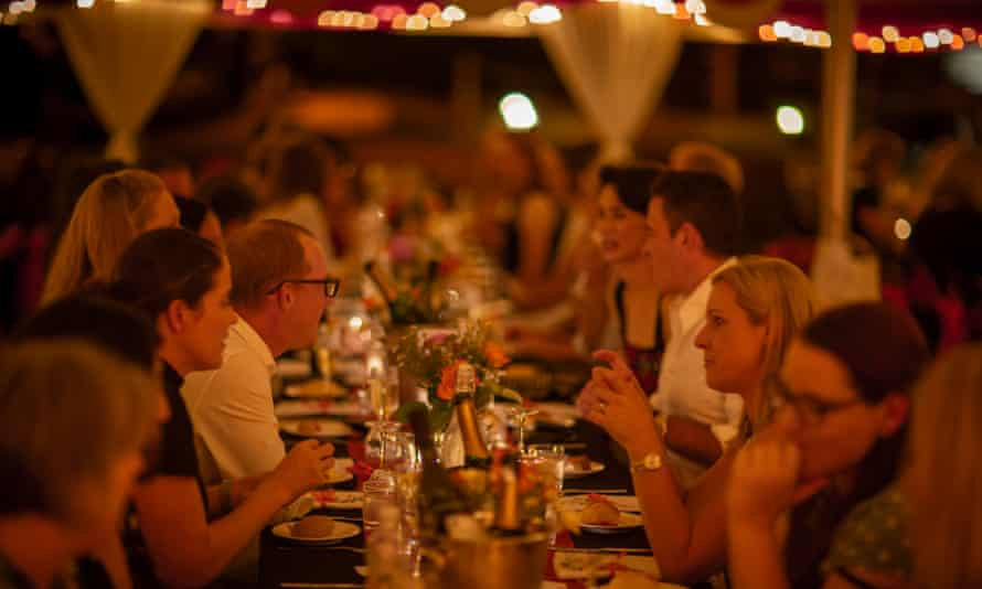 A dinner at the 2019 Somerset Storyfest.