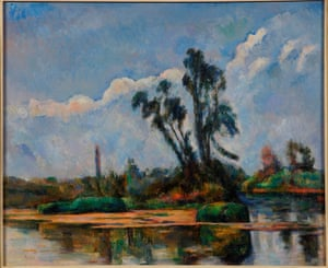 River Landscape by Paul Cézanne, about 1881, features in the exhibition.