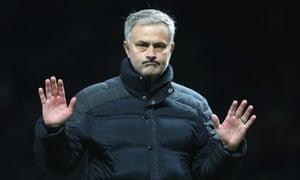 José Mourinho managing Manchester United against Tottenham Hotspur in 2016.