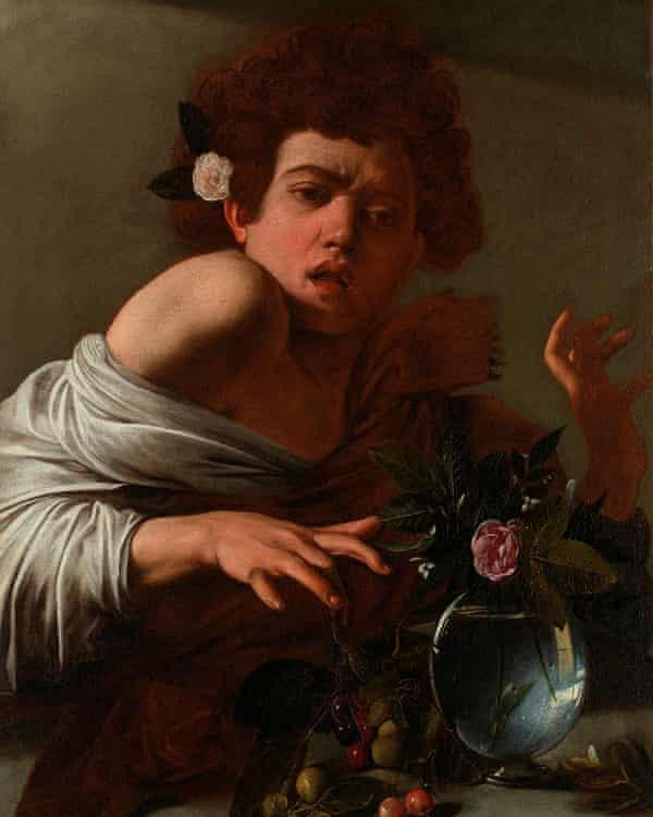 Caravaggio's Boy Bitten by a Lizard.