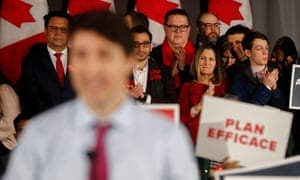 Canada's minister of Foreign Affairs Chrystia Freeland attends the Liberal Action Climate Rally where prime minister Justin Trudeau was speaking.