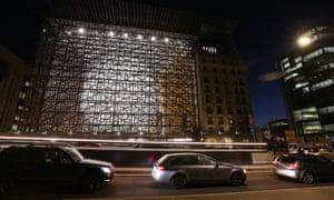 New EU building nicknamed the 'Space Egg'.