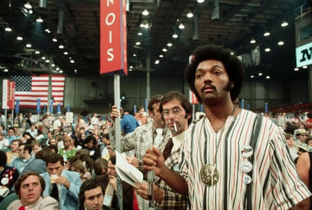 Jackson at the 1972 Democratic convention in Miami, which nominated George McGovern.
