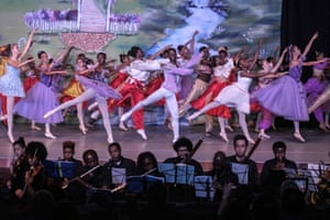 Members of Dance Centre Kenya (DCK) perform during a production of The Nutcracker with the Nairobi Philharmonic Orchestra