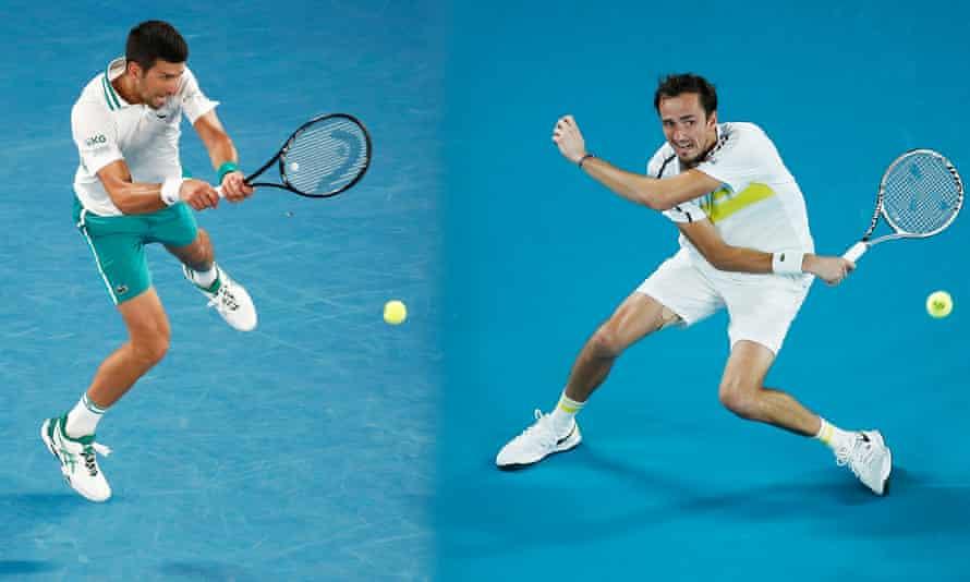 Novak Djokovic will face Daniil Medvedev in the Australian Open men's singles final.