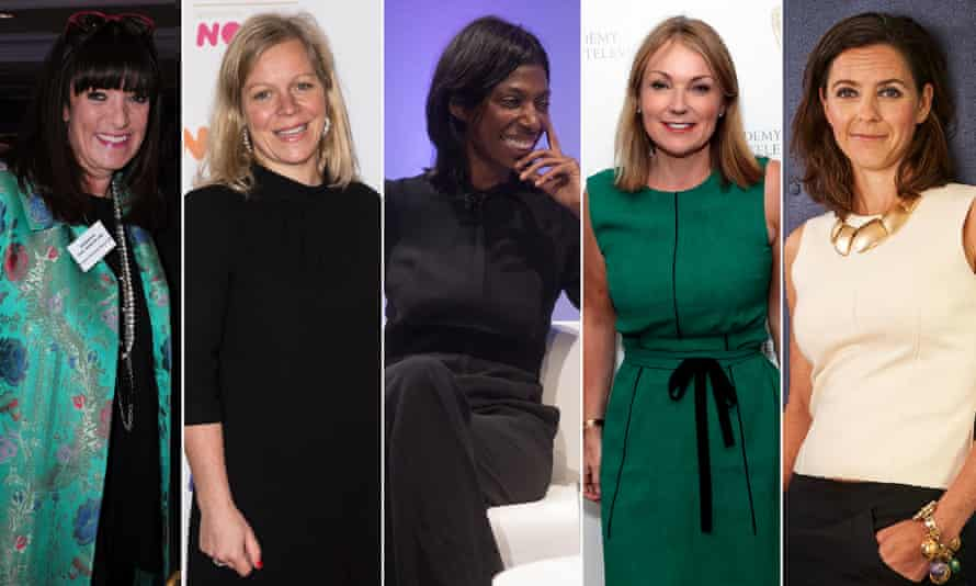 Five possible female candidates for the BBC's top job: (from left to right) Gail Rebuck, Charlotte Moore, Sharon White, Jay Hunt and Alex Mahon.