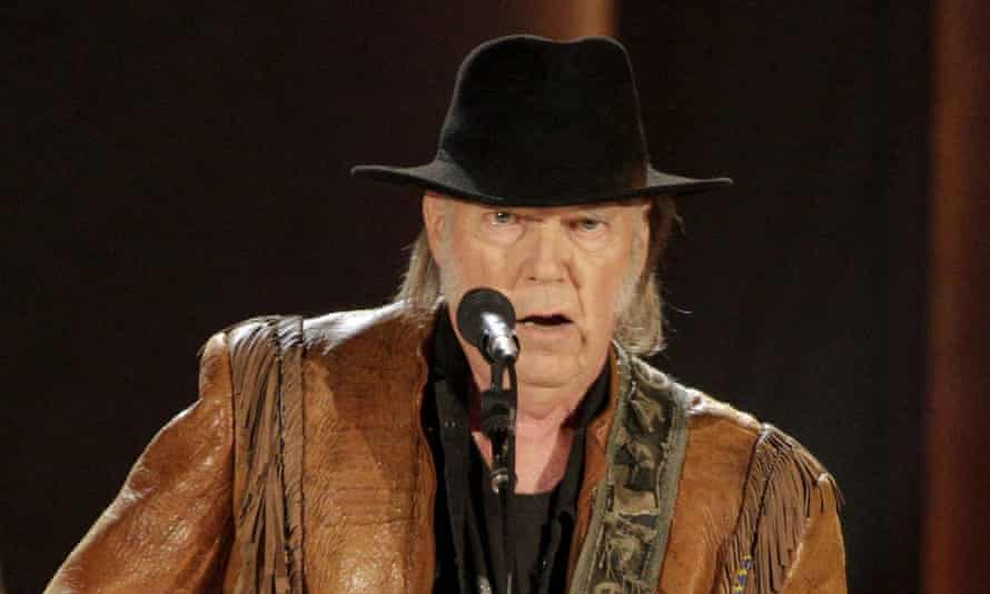 'I wish internet news was two-sided' … Neil Young.