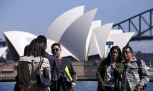 Chinese tourists in Sydney. The two countries have prospered through their close economic ties but there could also be a downside.