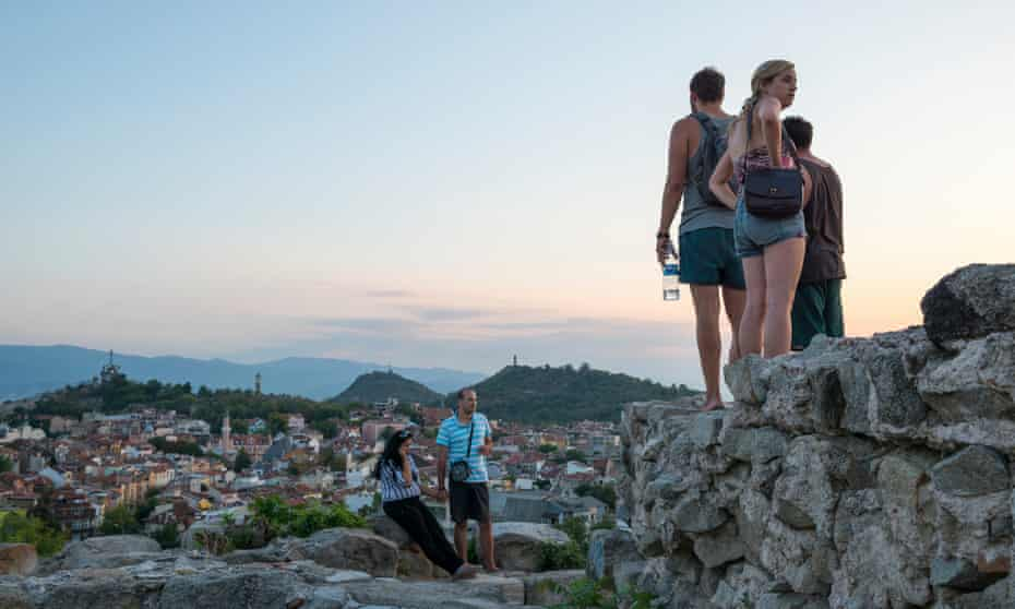 People at Nebet Tepe hill in Plovdiv