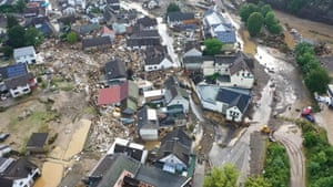 Flooding of the Ahr River in the Eifel village, Germany