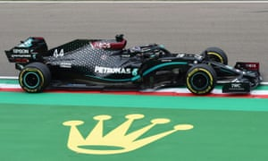 Lewis Hamilton wins Emilia Romagna GP as Mercedes claim seventh F1 title    Sport   The Guardian