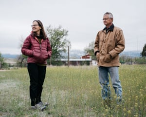 Susan Gordon, the former manager of the Venetucci Farm, and her husband Patrick Hamilton, visit the farm after leaving it due to the shut down.