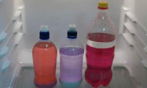 Bottles used in the manufacture of meth in a New Zealand home-based P lab.