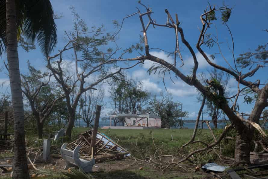 Once a lush and beautiful meeting place for Luganville residents, Unity Park has been ravaged by Category 5 cyclone Harold.