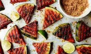 Anna Jones's grilled watermelon with lime and spice.