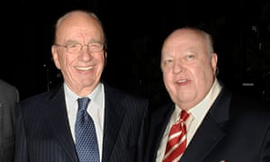 Rupert Murdoch with Roger Ailes in 2007.