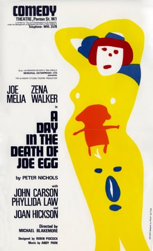 A poster for A Day in the Death of Joe Egg by Peter Nichols, 1967.
