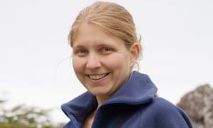 a woman wearing a fleece jacket