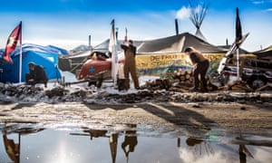 The government ordered people to leave the Dakota Access pipeline protest site by Monday, but demonstrators say they are prepared to stay and authorities say they will not forcibly remove them.