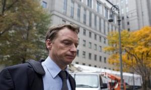 Former Rabobank employee Anthony Allen exits federal court in Manhattan, New York November 5, 2015