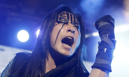 Freddy Lim performing with Chthonic in 2015.