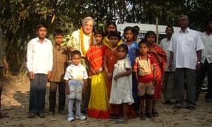 Richard Wilson with children from Durgapur village in Bangladesh