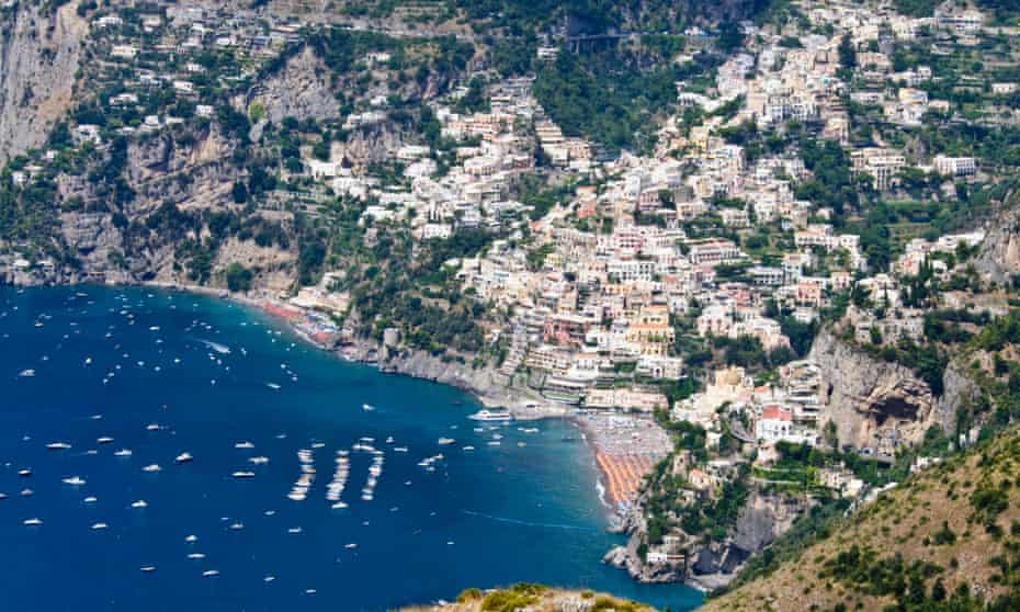 Positano from the Path of the Gods.