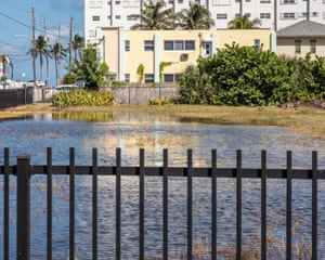 A king tide in Hollywood, Florida.