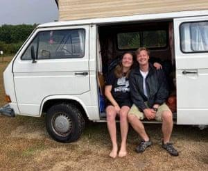 Charlotte campervanning in Suffolk