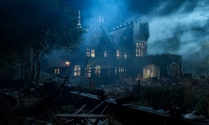 Netflix by night: The Haunting of Hill House.
