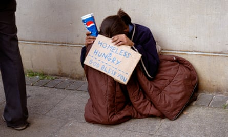 A young homeless person. The number of homeless people who are trans and gender diverse has 'simply exploded'.