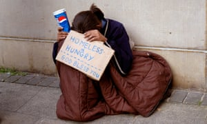 A young homeless person in London