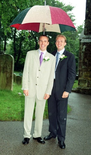 Southgate at his wedding in 1997.