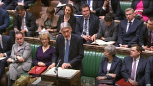 Chancellor of the Exchequer Philip Hammond delivering his Spring Statement to the House of Commons.