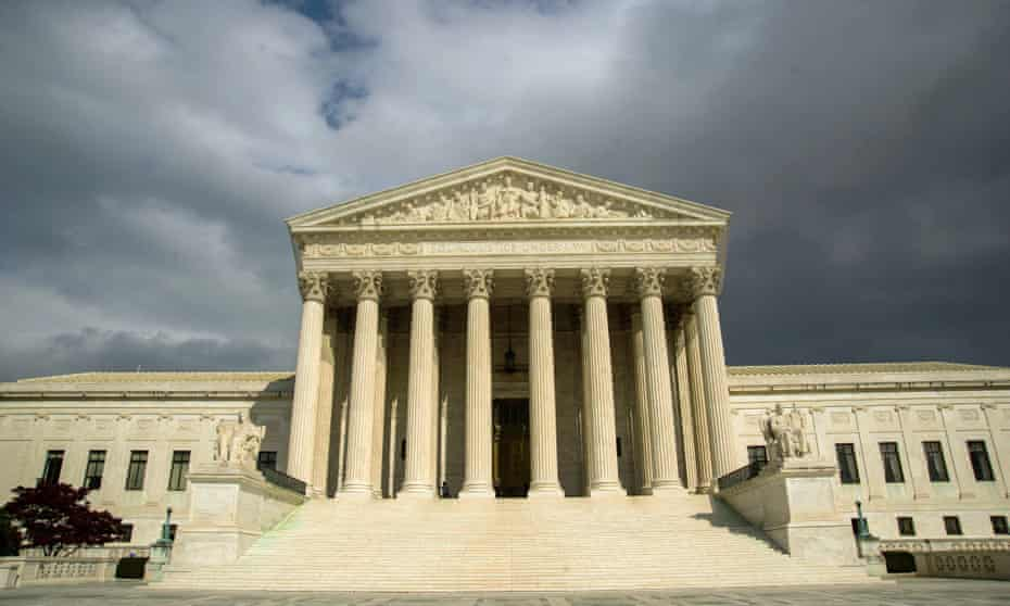 The supreme court building on Capitol Hill in Washington.