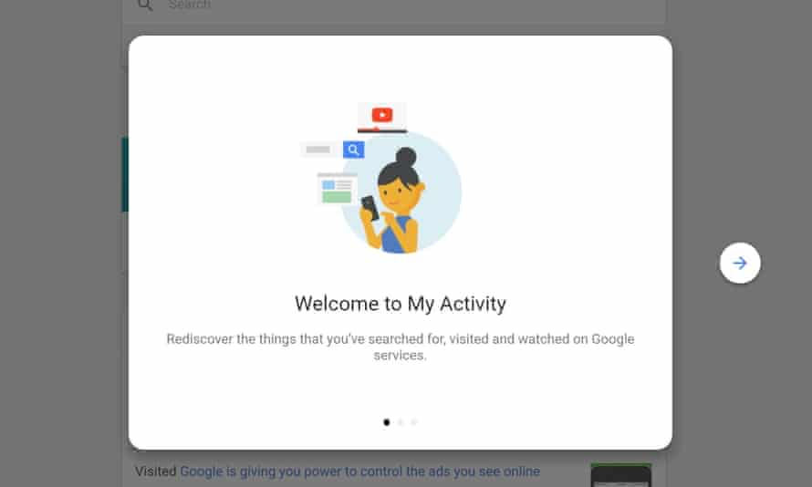 Google's My Activity page