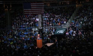 Bernie Sanders Holds Campaign Rally At Michigan State University.