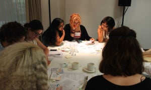Delegates at a good practice workshop at the Guardian Education Centre and British Library Reading for pleasure conference, secondary 6 July 2017