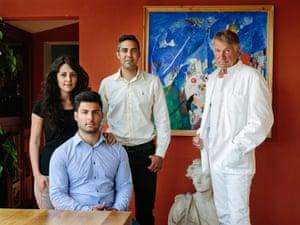 Lars Asklund with Farah Hilal, Waleed Lababidi and Milad Hilal