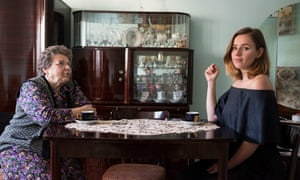 Alexandra Jones with her grandmother, Elizabeta Moldovan, at her home in Zlatna, Romania.